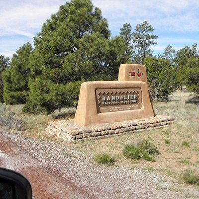 entrance to Bandalier National Monument...