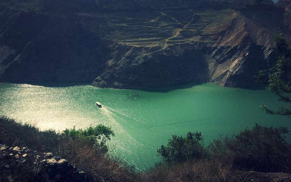 Tehri dam view from top.