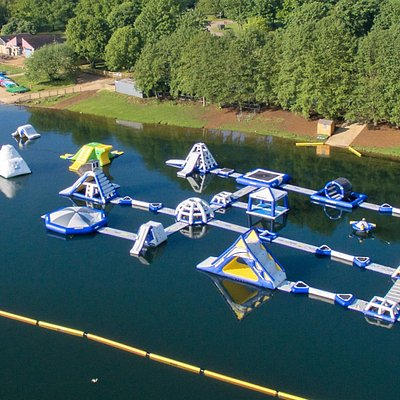 New Aqua Park Layout for 2017 - 40 obstacles covering 8000 Sq Metres