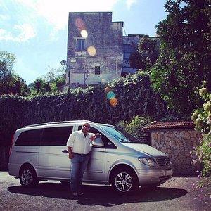 Gaetano with his vehicle