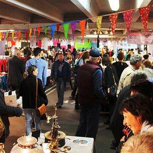 Bustling market day.