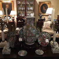Chinese Export Porcelains with Bronze and Marble Candelabras