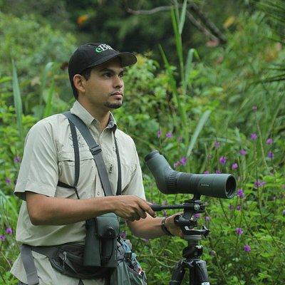 Johan lining up the spotting scope