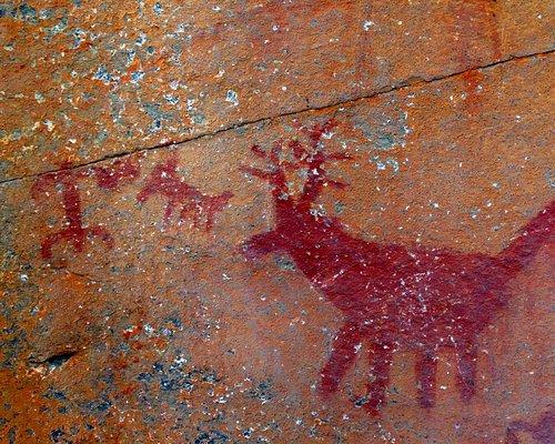 Trekking y pinturas rupestres