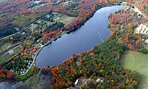 Aerial view of Lake Moc-A-Tek Campground