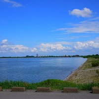 遊水地です。天気が良い日は茨城県側もよく見えます