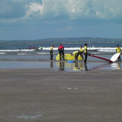 All set to catch a wave on the Wild Atlantic Way.  Great place to try surf.  Beautiful sandy bea