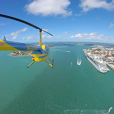 Flying over the Key West Harbor