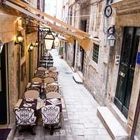 Tucked away in a narrow street just off the main street of Dubrovnik - Stradun.
