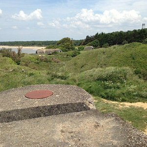 View towards beach of Saint-George