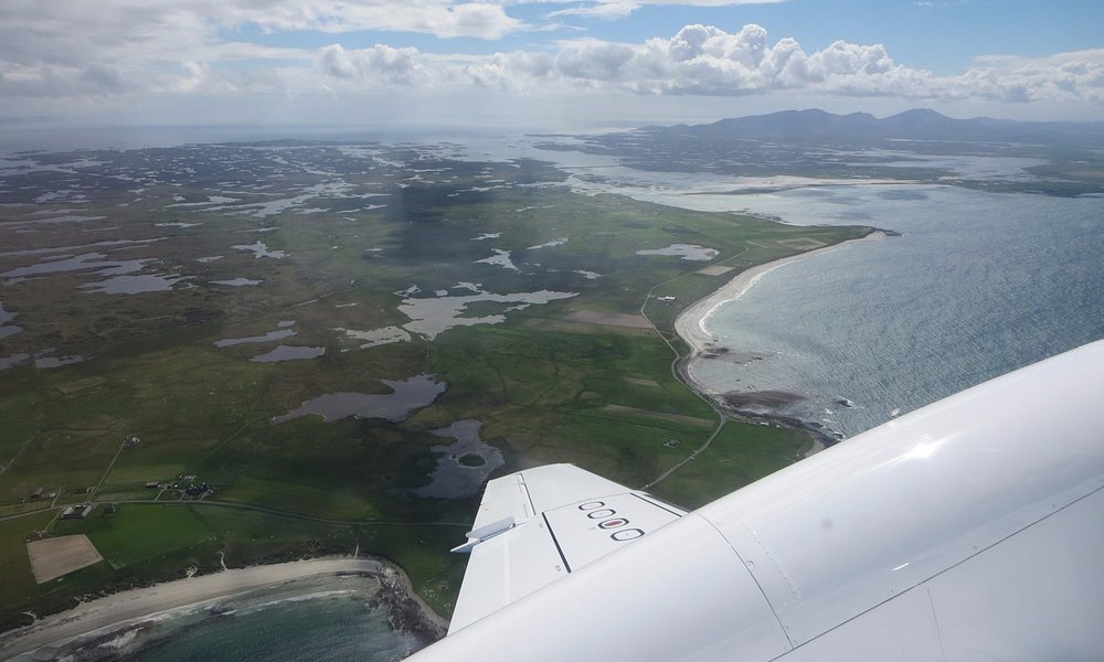 Leaving Benbecula by plane