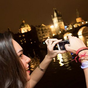 Charles Bridge from Boat Party Prague 1