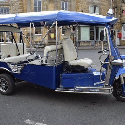 Our lovely tuk tuk is available for all types of hire from cream tea express to full day tours