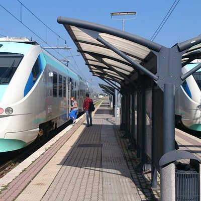 TFT Trains at the Arezzo Central Station