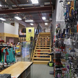 Our new location offers same climbing and skiing gear as before and now clothing and running gea