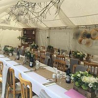 Marque all ready for the wedding party