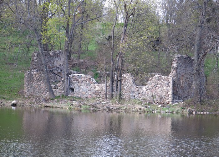 Old ruins on the river