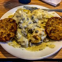 Home-Made-Scratch Biscuits with Sausage Gravy