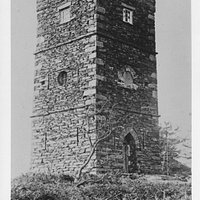 Finsthwaite Tower was built as a war memorial in 1799 and is now surrounded by trees