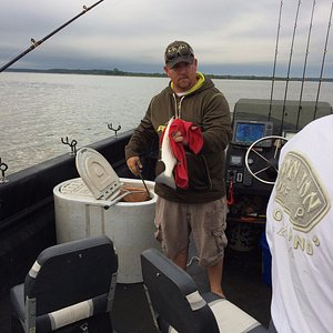 Our guide, Dale, was friendly, knowledgeable, and quick about baiting our hooks and taking fish