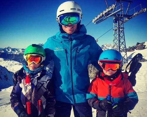 Off skiing with Oli and Xav on the first day of the season!