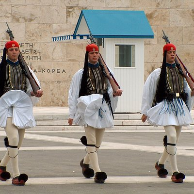 Presidential Guards in front Greek Parliament