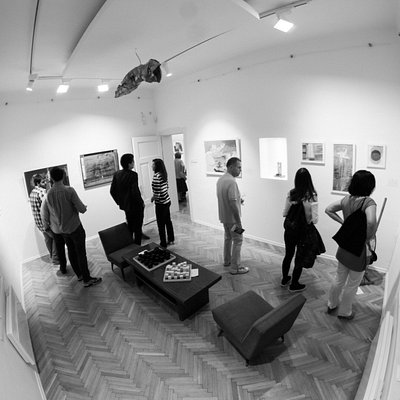 an exhibition opening...