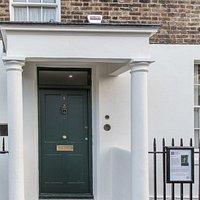 Front door of  7 Hammersmith Terrace, London W6