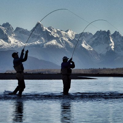 Coho salmon fishing on the Chilkat River