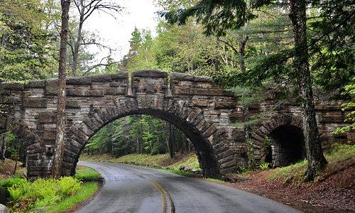 Park Loop Road - Carriage Road Bridge At Stanley Brook