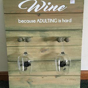 Signs available for sale in our tasting rooms!