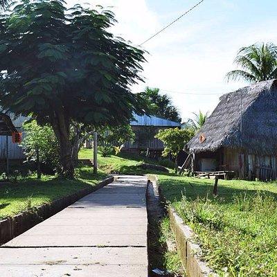 Vereda peatonal en el pueblo de Cuipari