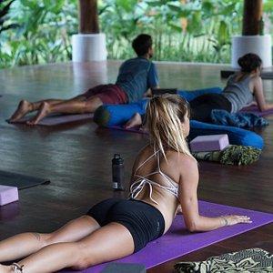 Yogaclass at the new Mana Retreat