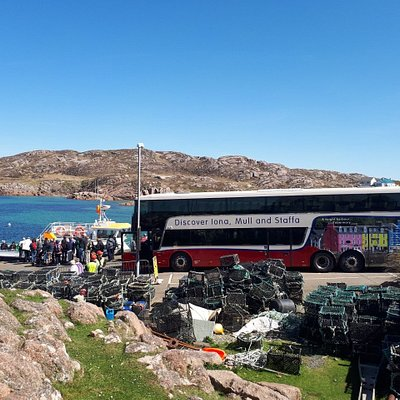 Our coach at Fionnphort, Mull