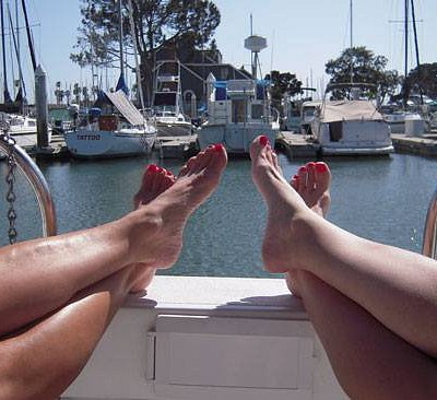 Relaxing on the Pontoon