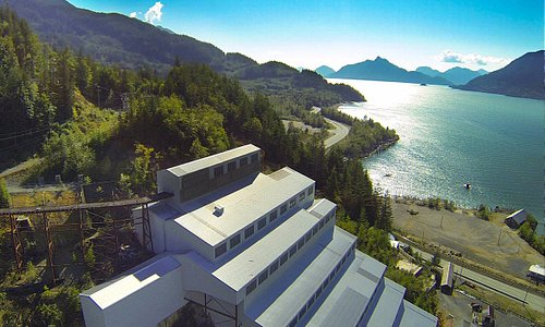 A beautiful aerial view of Mill 3 and Howe Sound