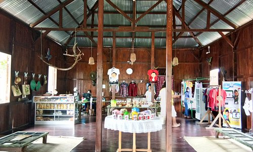 Inside the house at Ahok Village