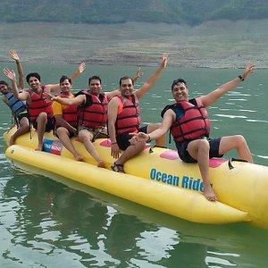 Banana ride at Tehri lake