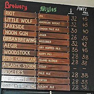 Our updated beer menu at Beerworkks