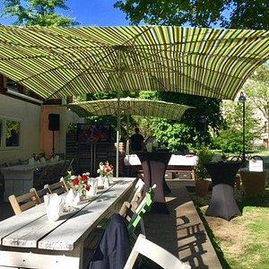 Außenbereich Haus Bar