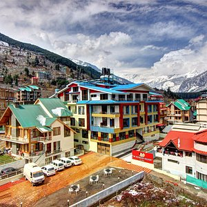 The moniker resort & spa hotel main photograph with panoramic view with snow mountain from the h