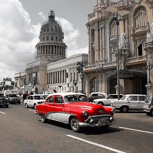 Old cars are everywhere in Havana