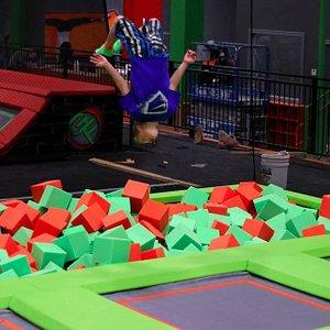 High performance trampolines, foam pits &  Ninja Warrior Course
