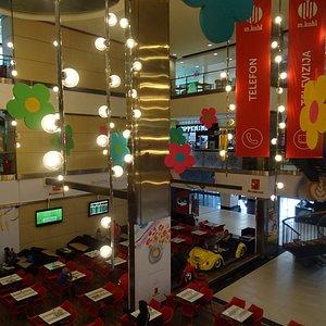 Moderner deel van de mall