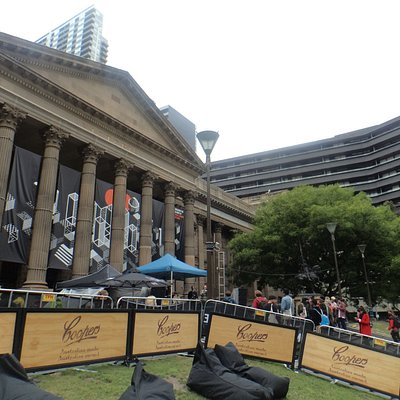 Forecourt of the State Library of Victoria