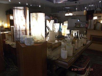 Onyx lamps....