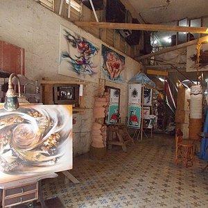 Interior de la galería