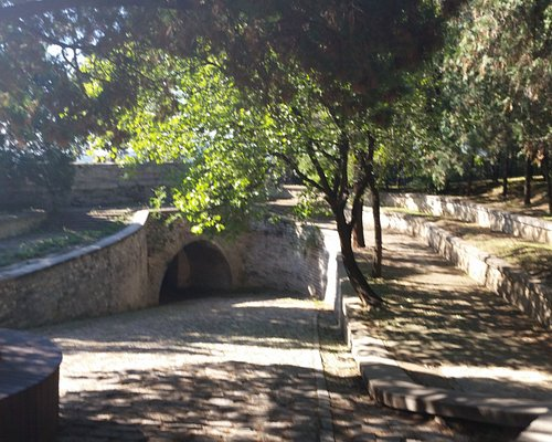 An underground passage entrance