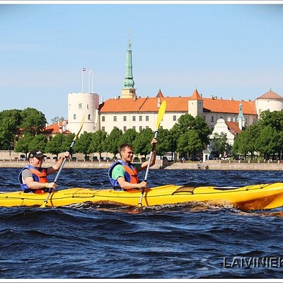 Kayaking in Riga - fast tandem sea kayak for rough weather