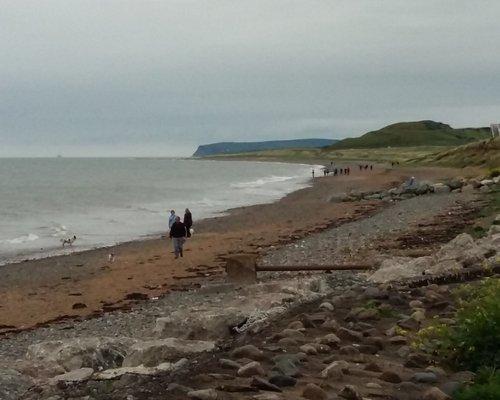 View North Towards St Bees With Walkers